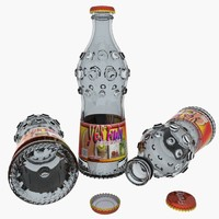 glass bottles 3d max