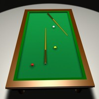 3d model billiard table
