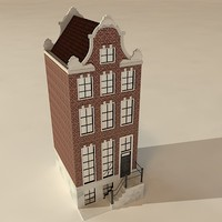 3d model dutch house