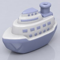 3d ship toy model
