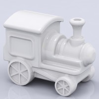 3d porcelain train figure