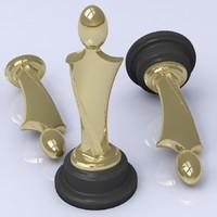 metal trophy figure 3d model
