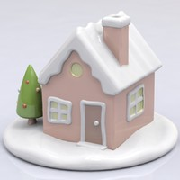 Winter House Porcelain Figure