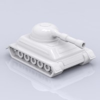 3d porcelain tank figure model
