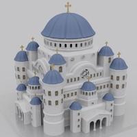 3d christian orthodox temple