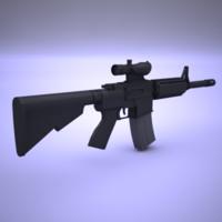 3d model colt m4