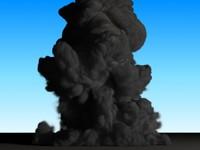 3d fumefx explosion model