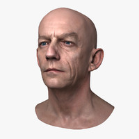 Caucasian Male Head - Frank