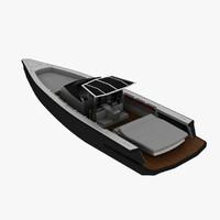 motor boat 3d max