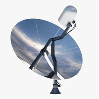 3d satellite dish antenna
