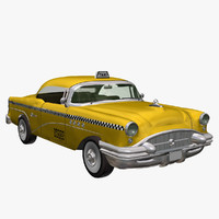 3d model yellow buick taxi