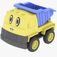 3d model plastic toy truck