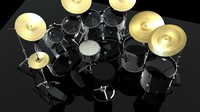 3d pearl drum kit model