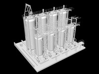 3d model pasteurizer tanks