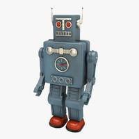 obj vintage robot toy
