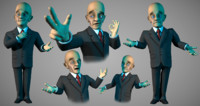 3d toon businessman model