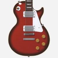 3d max guitar gibson les