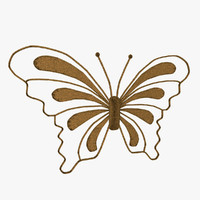 3d christmas butterfly decorations model