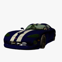 obj dodge viper gts sport car