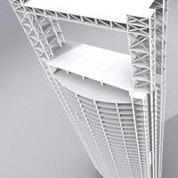 3d structure building model