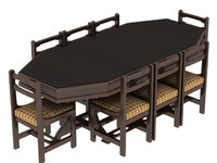 dinning table 3d 3ds