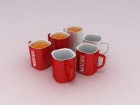 3d nescafe coffee cup
