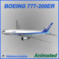 3d model boeing 777-200er