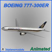 boeing 777-300er 3d max