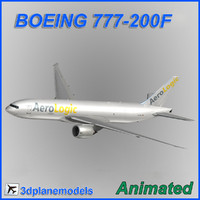 boeing 777-200f 3d 3ds
