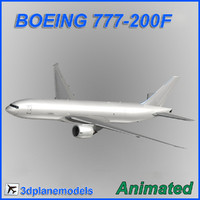 boeing 777-200f 3d max