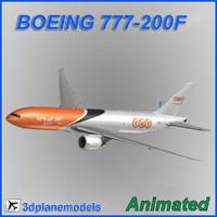 3d boeing 777-200f model