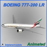 boeing 777-200lr 3d model