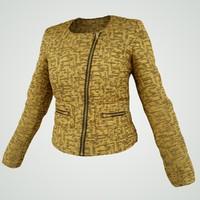 gold jacket 3d model