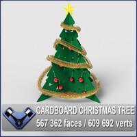 Cardboard Christmas Tree(1)