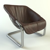 minotti chair 3d max