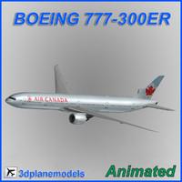 maya boeing 777-300er aircraft landing
