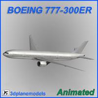 Boeing 777-300ER Generic white