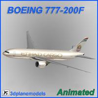 boeing 777-200f cargo 3d max
