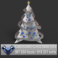3d model cardboard christmas tree