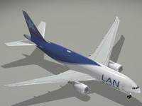 3d model of b 777-200 lan cargo