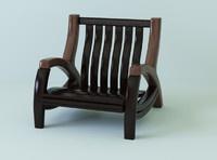 3d model of chair landbond wood