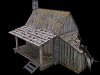 3d ruined house forester model