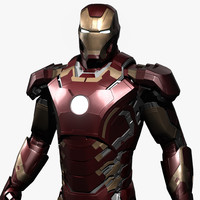 3d iron-man avengers age ultron model