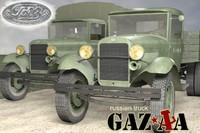 3d model russian truck gaz