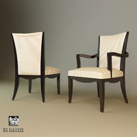 3ds max baker armchair 3447 chair