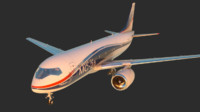 3d airplane ms-21 model