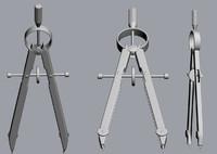 compass dividers 3d model
