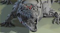 3d robot croco