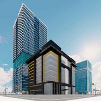 city block 2 3d max