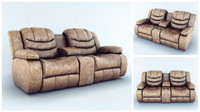 sofa ashley 3d obj